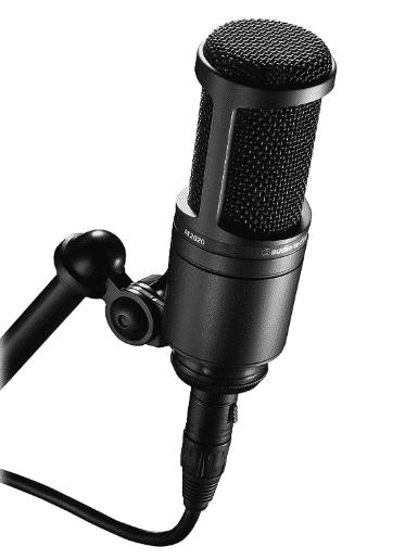 Audio-Technica AT2020 Cardioid Condenser best condenser mic under 200