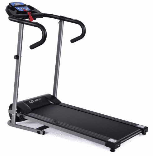 Goplus 1100W Electric Folding Treadmill with LCD Display and Pad Holder - best budget treadmill under $500