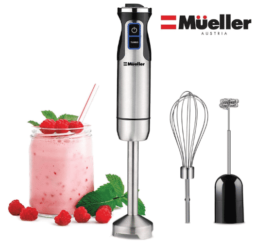 Mueller Austria Ultra-Stick 500 Watt 9-Speed Immersion Multi-Purpose Hand Blender - BEST BLENDER UNDER 100