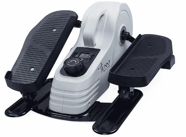 Sunny Health & Fitness Fully Assembled Magnetic Under Desk Elliptical best elliptical under 1000