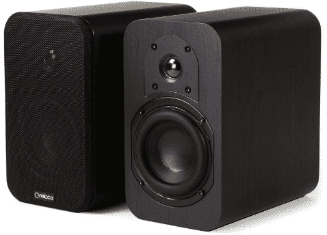 MICCA RB42 REFERENCE BOOKSHELF SPEAKER WITH 4-INCH WOOFER AND SILK TWEETER