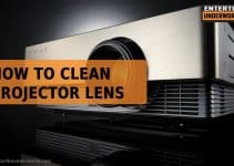 how to clean projector lens