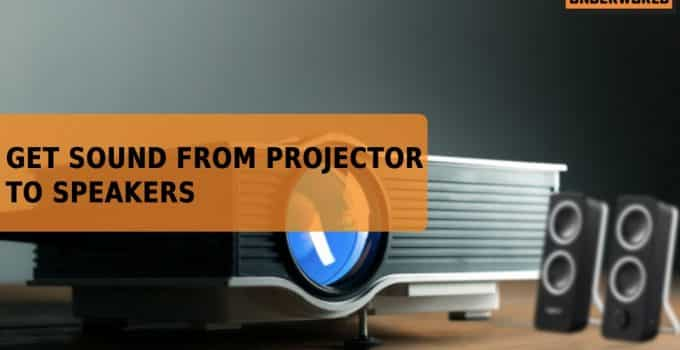 sound from projector to speakers