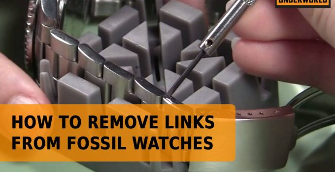 How To Remove Links From Fossil Watches
